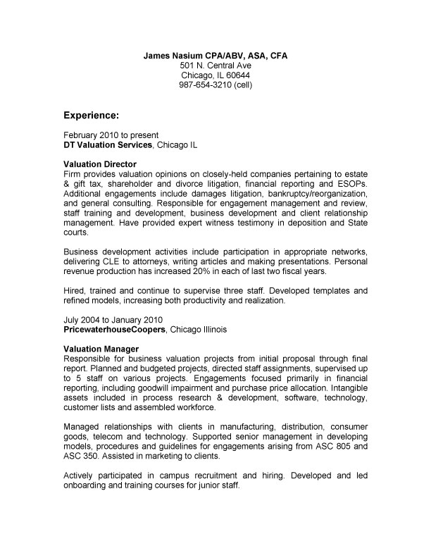 Financial Planning And Analysis Cover Letter