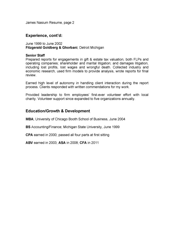 resume tips borrowman baker llc
