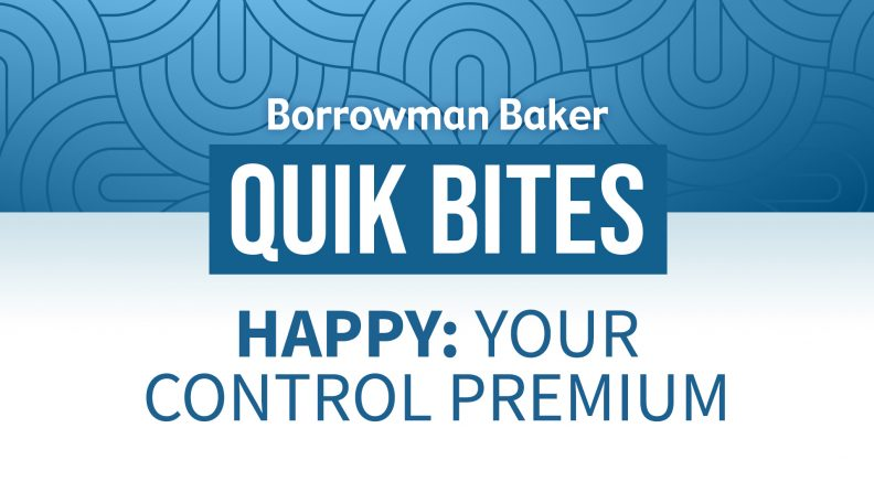 Happy: Your Control Premium