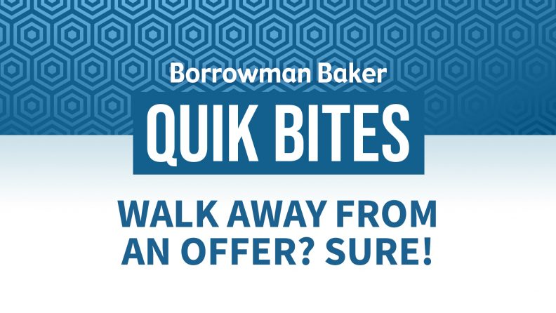 Walk Away From an Offer? Sure!